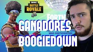 REACCIONANDO A GANADORES DEL CONCURSO BOOGIEDOWN DE FORTNITE BATTLE ROYALE !!!