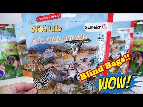 Schleich Wild Life Blind Bags Opening | Schleich Wild Life Collectible Animals