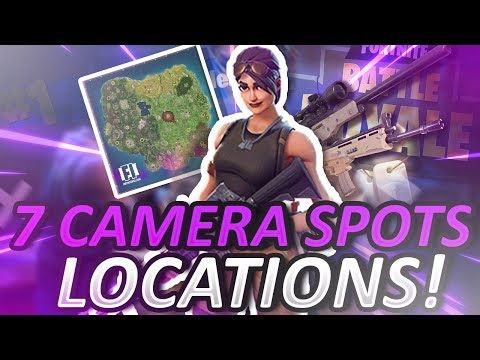 NEW FORTNITE 7 CAMERA SPOTS CHALLENGE! LOCATIONS!