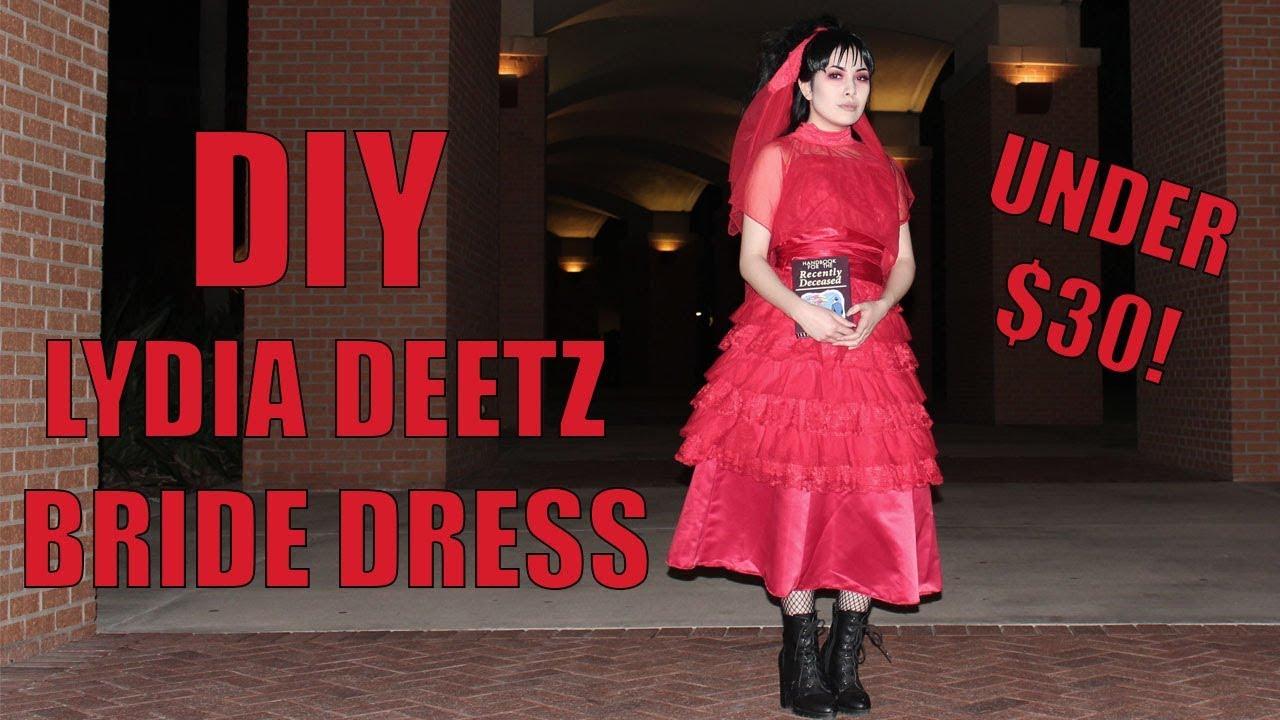Diy Lydia Deetz Bride Dress Beetlejuice Youtube