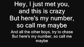 Carly Rae Jepsen-Call Me Maybe Lyrics