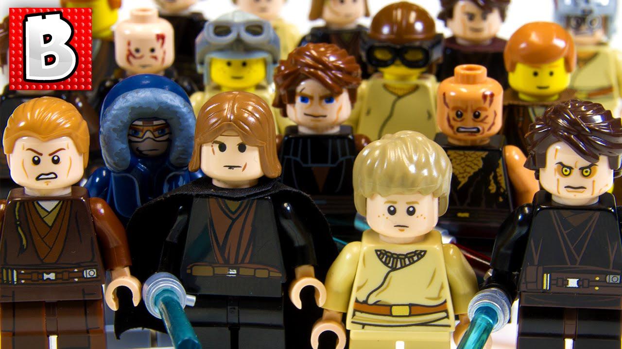 Every Lego Anakin Skywalker Minifigure Ever Rare Light