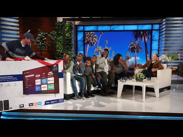 Ellen Surprises a Family with a 12 Days Giveaway
