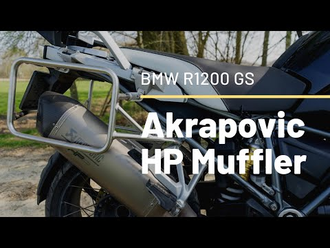 2016 BMW R 1200 GS LC Akrapovic HP sportuitlaat Exhaust sound compared with stock muffler baffles in