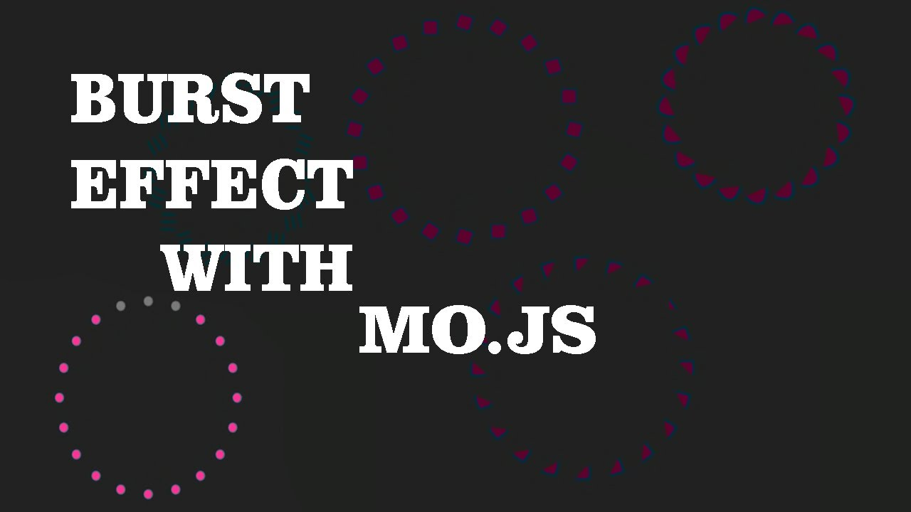 Css Animation Effect  Using Javascript libaray mo.js