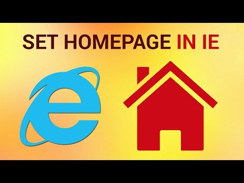 How to set a Homepage on Internet Explorer
