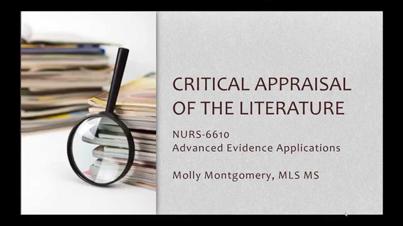 critical appraisal of medical research papers Critical appraisal charlene clark loewenberg school of nursing abstract the purpose of this critical appraisal is to review a particular recent research.