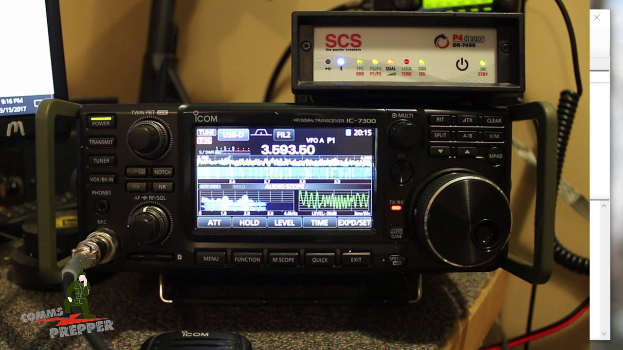 Typical Pactor Winlink Check with Icom IC-7300