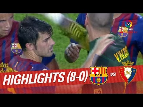 Resumen de FC Barcelona vs Osasuna (8-0) 2011/2012