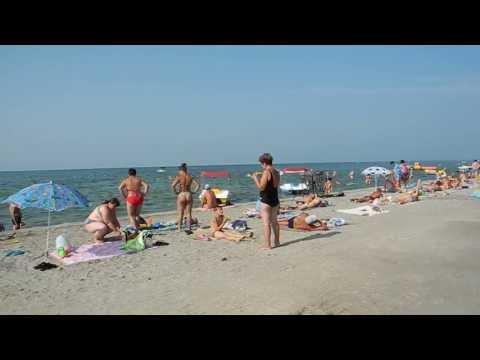 Центральный пляж Скадовска 2013: возле Парка Развлечений.