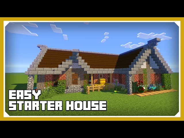 minecraft: how to build a cool starter house tutorial (easy survival