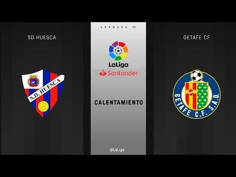 Calentamiento SD Huesca vs Getafe FC