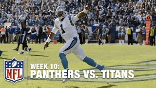 Cam Newton Reaches Out for a Nearly-Impossible Goal Line TD! | Panthers vs. Titans | NFL