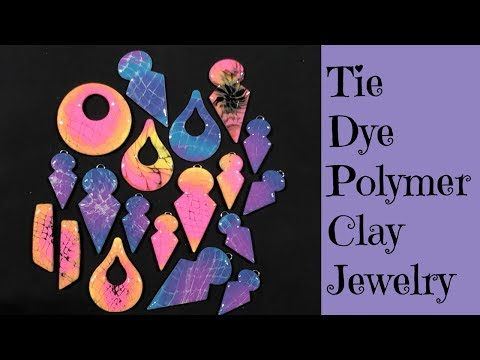 Polymer Clay Tutorial Creating Mokume Gane Tie Dye Style Jewelry DIY Earrings Pendants Cabochons