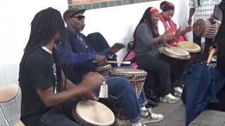 African Drummers in the Subway in New York City