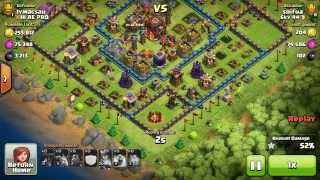 Clash of Clans - Town Hall 9 TITAN Player crushing Town Hall 10s using surgical lavaloonion