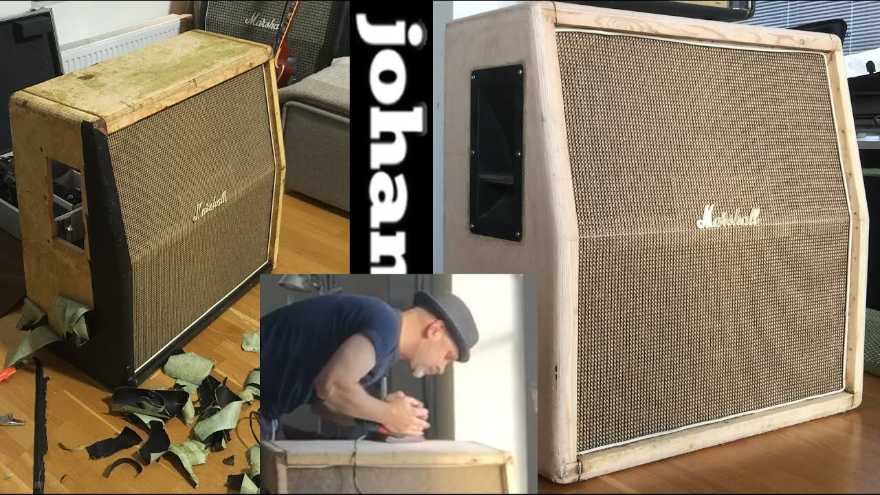 Stripping Vinyl And Glue From Marshall Cab Youtube