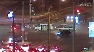 Пионерская-Московская. Внедорожник сбил собаку! 18.01.2019. Брест
