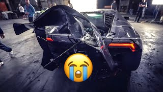 LAMBORGHINI CRASHES IN JAKE PAUL MUSIC VIDEO RANDY SAVAGE! * DESTROYED *