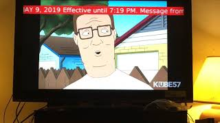 EAS Activation Severe Thunderstorm Warning KUBE TV
