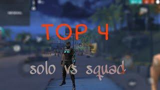 Top 4 global |solo vs squad  Ranked game|22kill