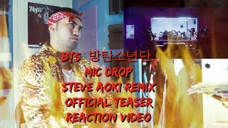 BTS (?????) MIC Drop (Steve Aoki Remix) Official Teaser - (Reaction Video) MP3