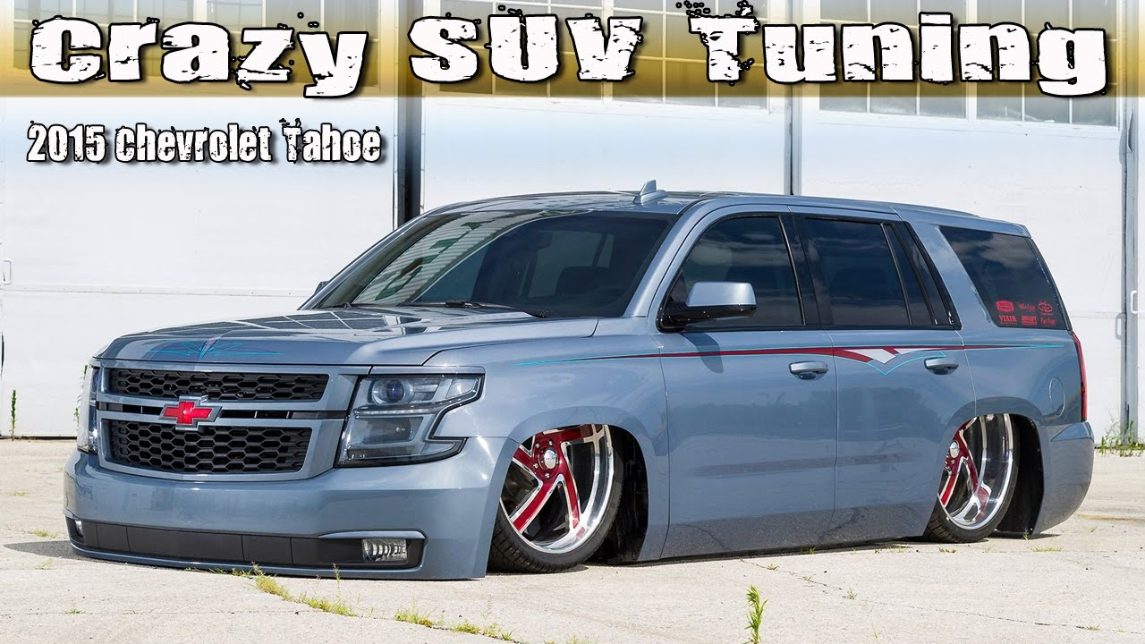 Crazy SUV Tuning: 2015 Chevrolet Tahoe Lowrider - YouTube