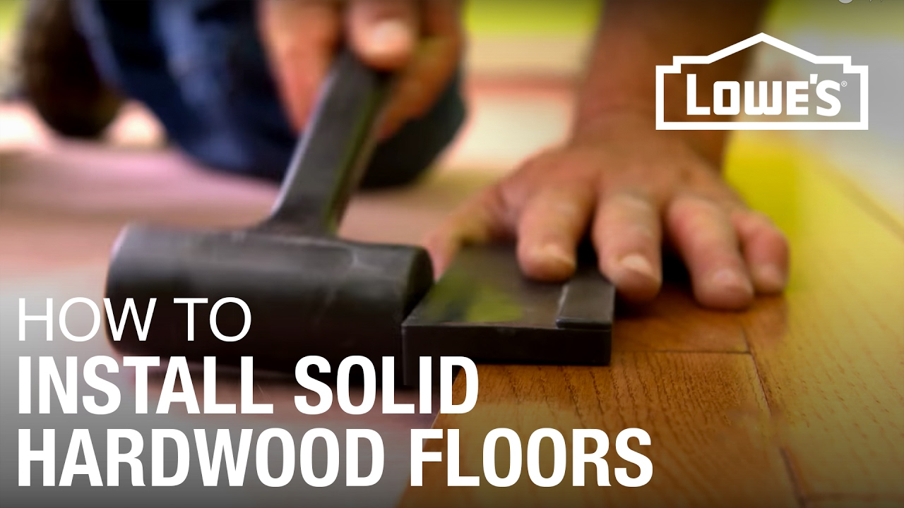How To Install Solid Hardwood Floors Youtube Lowes Floor Installation Prices