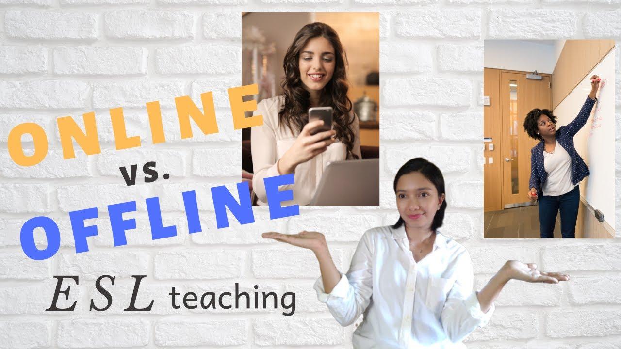 ONLINE vs. FACE-TO-FACE » ESL Teaching - YouTube