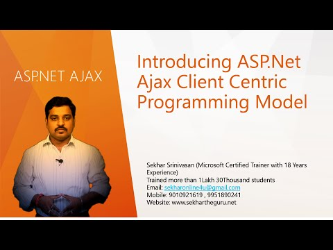 Introducing ASP.Net Ajax Client Centric Programming Model