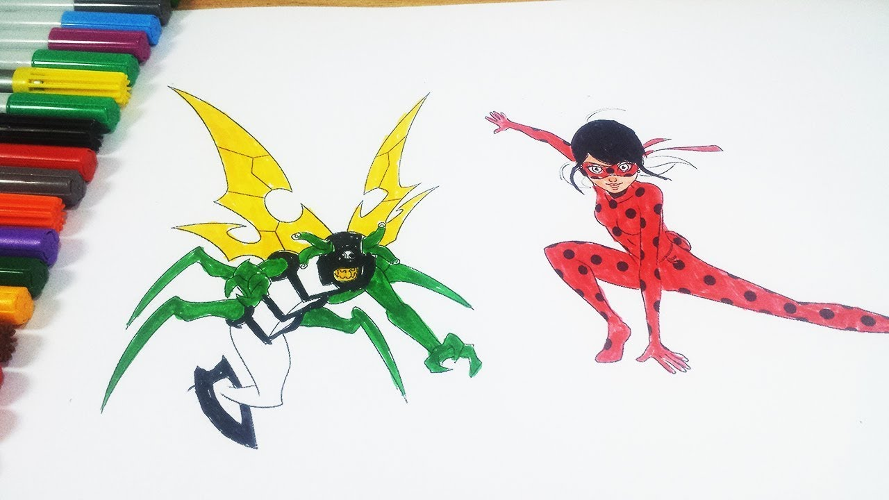Coloring Pages Ladybug : Coloring pages ben 10 stinkfly miraculous ladybug coloring videos
