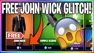 *GLITCH* HOW TO GET JOHN WICK SKIN FOR FREE! IN FORTNITE BATTLE ROAYLE! (FREE V BUCKS GLITCH!)