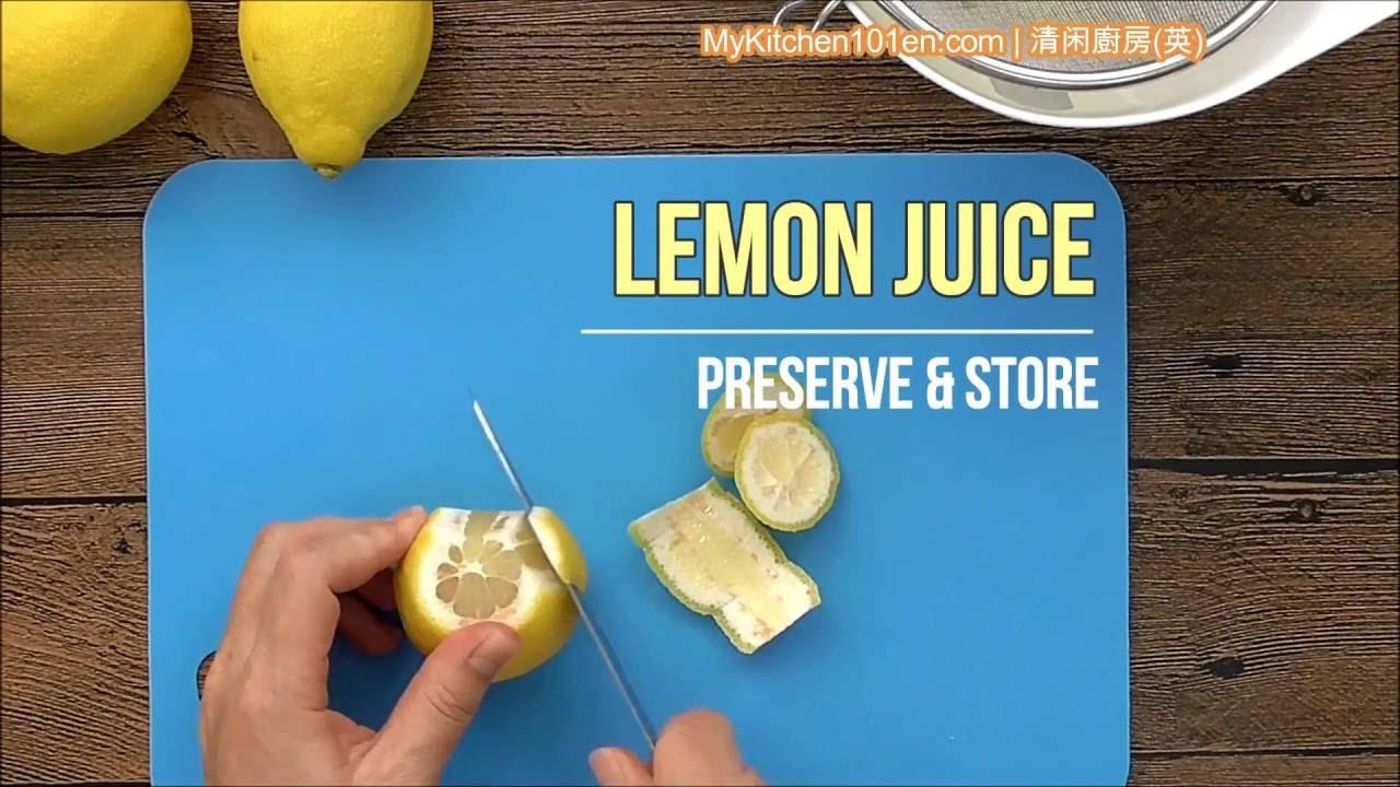 Freezing Lemon Juice In Ice Cube Tray