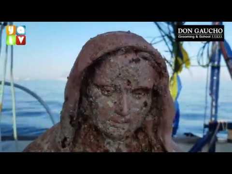 En exclusiva, YATV acompaña a La Virgen de La Palma al fondo del mar