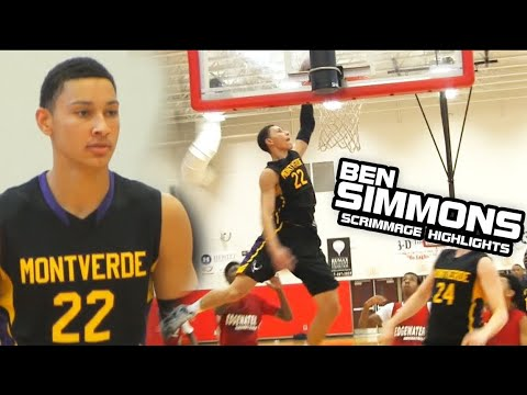 Ben Simmons Shows Off Shooting Touch In First Scrimmage Game at Montverde [Home Team Vault]