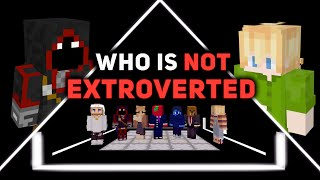 6 Extroverts vs 1 Introvert | Minecraft Odd Man Out