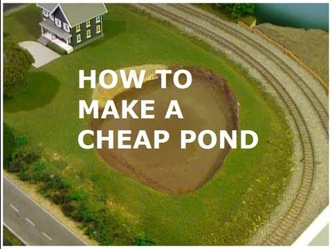 HOW TO MAKE A CHEAP MODEL POND WITH AN ACRYLIC WATER KIT
