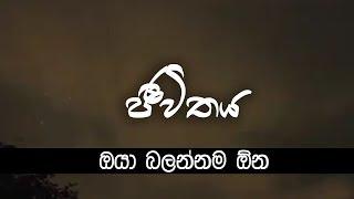 Jeewithaya   Adaraya   wirahawa    Oya Balannama One