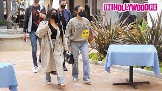 KourtneyKardashian & #StephanieShepherd Rock A Trench Coat & #KanyeWest 's Yeezy Merch To Lunch At Taverna Tony In Malibu 4.6.21 - TheHollywoodFix ...