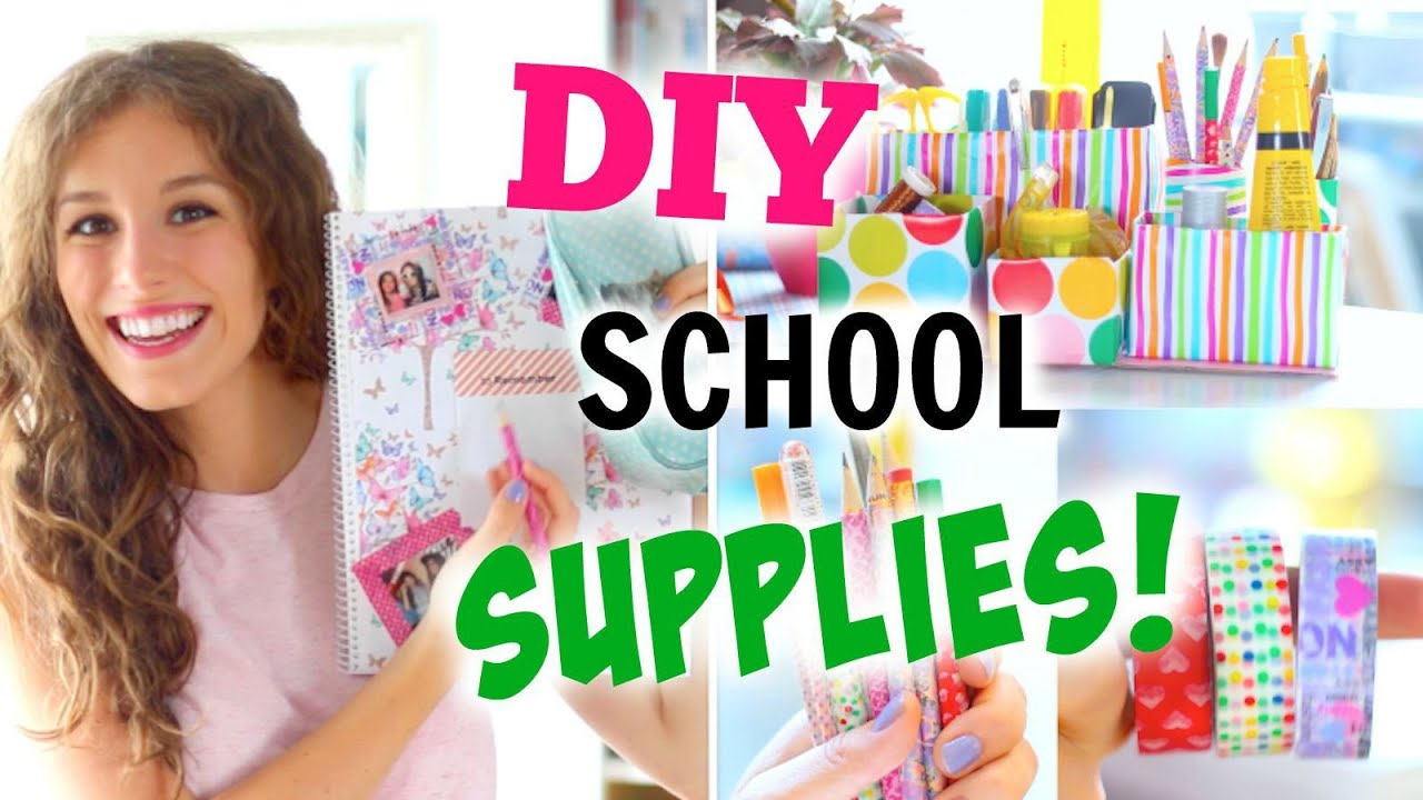 diy school supplies back to school college bl cke s e. Black Bedroom Furniture Sets. Home Design Ideas