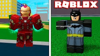 Roblox → BATTLE OF MARBLES vs Heroes DC!! -Roblox Marvel V DC 🎮