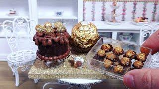 Miniature Ferrero Rocher Chocolate Cake! Mini Food ASMR