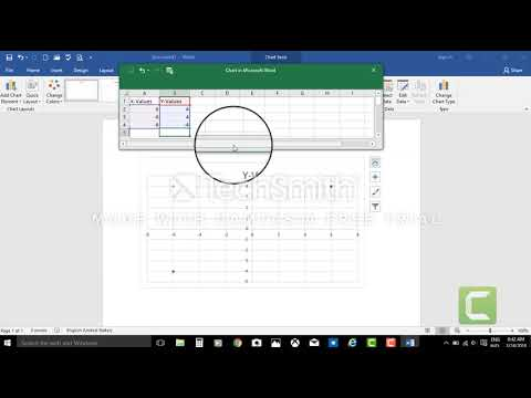Creating a line graph in word 2020