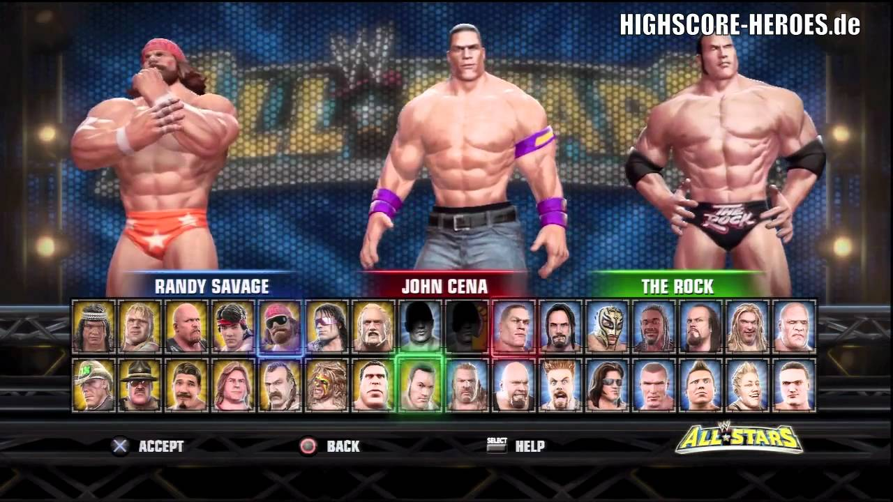 wwe all stars ps3 360 unlock everything code every attire