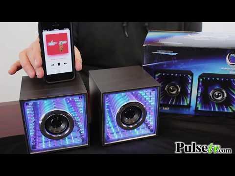 2pc Infinity Light Bluetooth Speakers