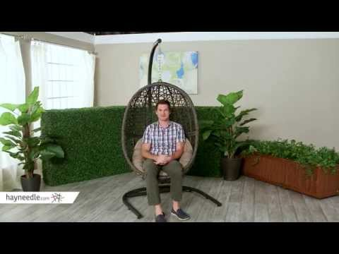 Island Bay Resin Wicker Hanging Egg Chair with Cushion - Product Review Video