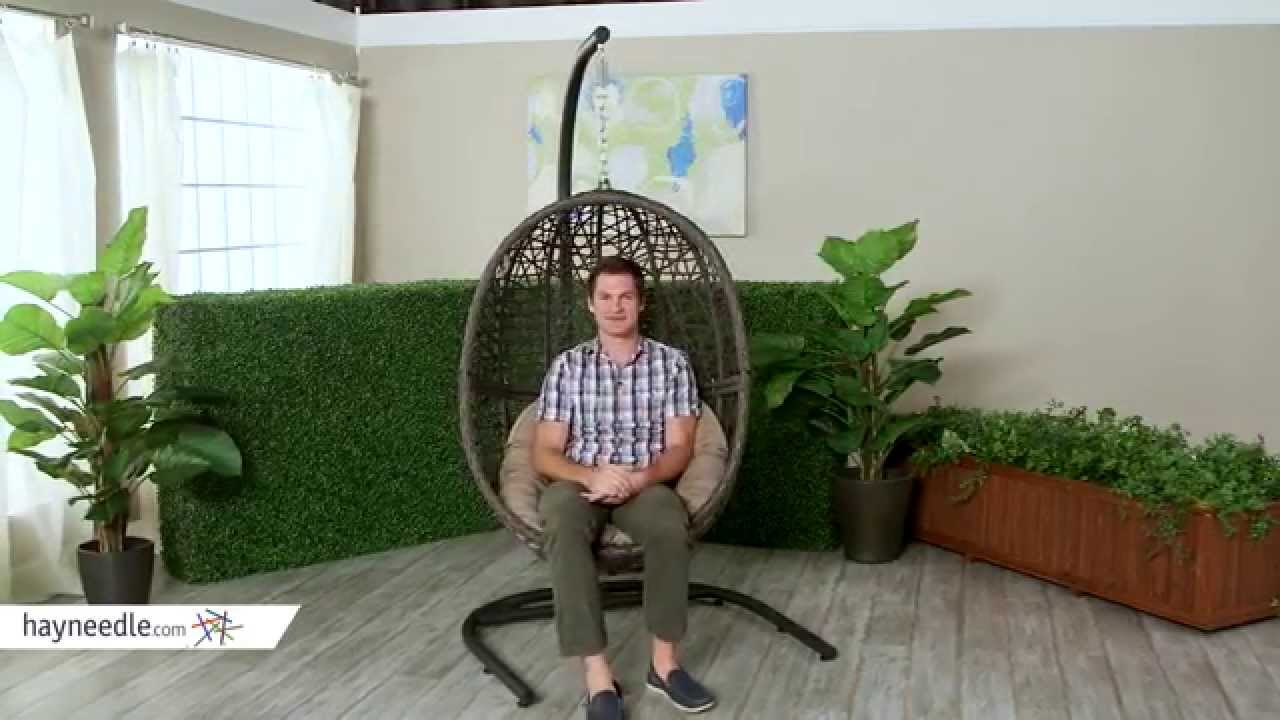 Egg Wicker Chairs Outdoor Island Bay Resin Wicker Hanging Egg Chair With Cushion Product Review Video