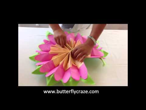 Girls Room Decoration Ideas with Paper Flowers for Room Hanging Decor and Party Centerpieces