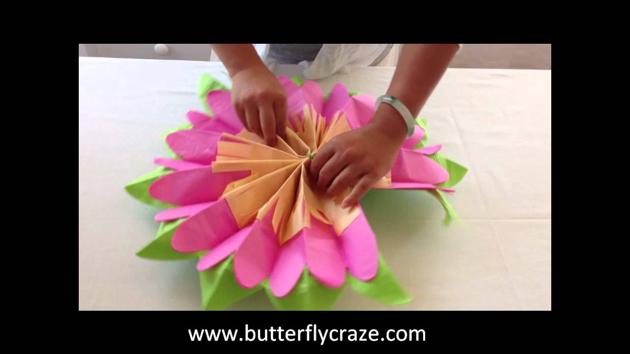 Room decoration with paper cuttings - Girls Room Decoration Ideas With Paper Flowers For Room Hanging Decor And Party Centerpieces Youtube