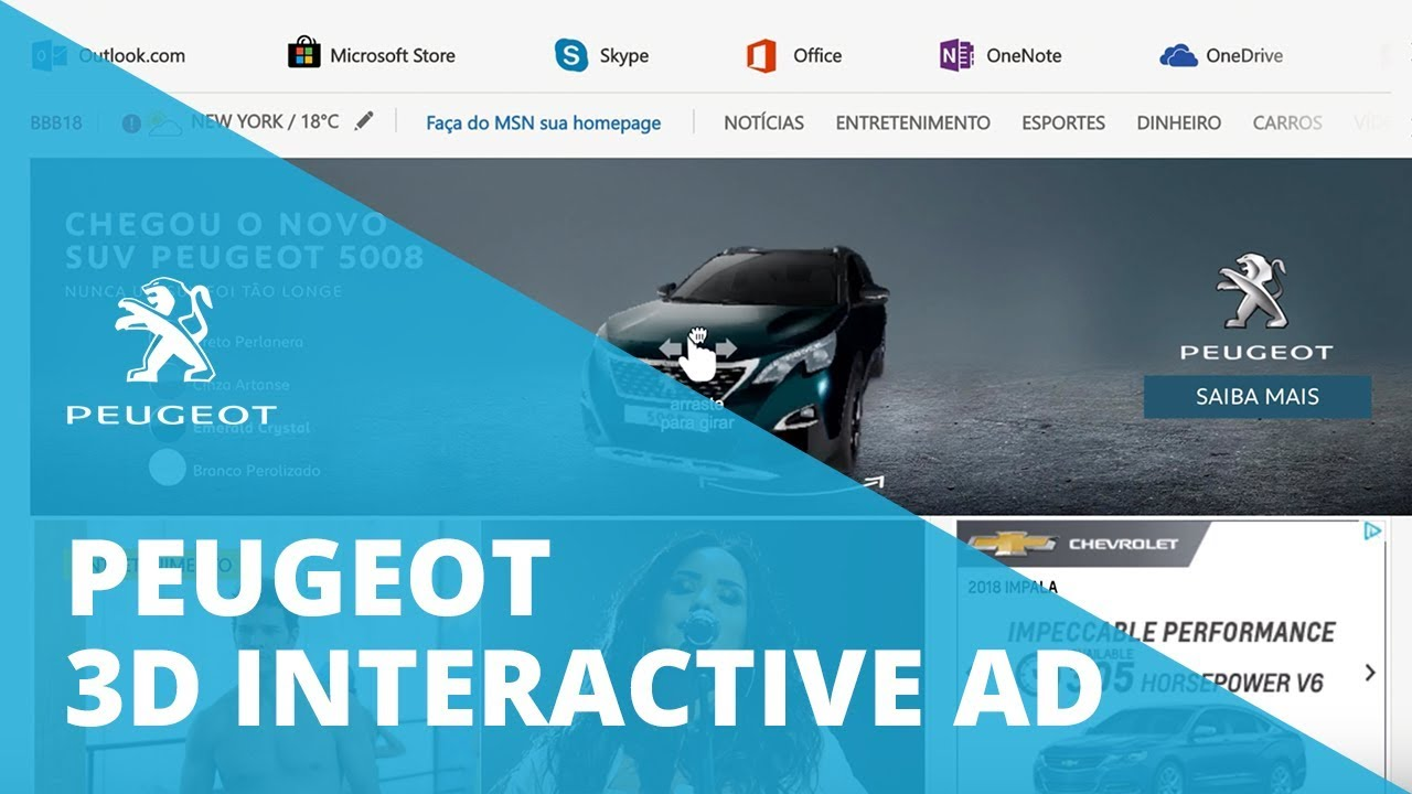 3D interactive ad for Peugeot   DEMO   Sketchfab